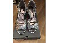 Brand new silver shoes size 5