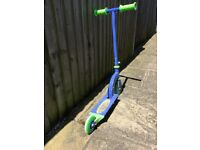 Push Scooter Adjustable Height and Wheels - Foldable - Blue