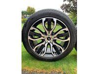 "Range Rover Sport 21"" Style 5007, 5 split-spoke Gloss Black, contrast Diamond turned Alloy Wheels"