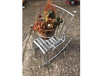 Kids/plant rocking chair garden