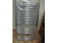 Curved Chrome Towel Rail with fittings (NEW & BOXED)