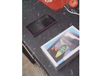 lenovo tab 3 with box had chrismas 8 gig purple like brand new