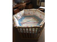 Roba six sided wooden playpen