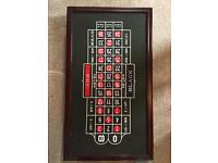 4 in 1 Roulette, Craps, Poker and Blackjack Tabletop Set