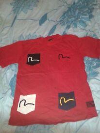 Evisu Red Casual t-shirt / top