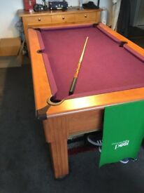 Pool table full sleight