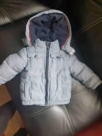 mckenzie denim look puffa coat 9 to 12 months