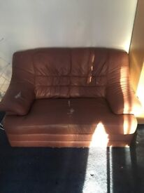 Leather double seater couch
