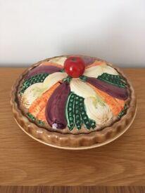 Vintage Decorative Ceramic 'Vegetable Pie Dish'