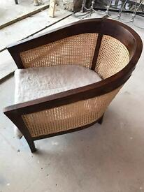 Cane Tub Chair Large Solid Quality