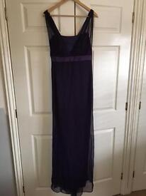 Full length deep purple bridesmaid/prom dress size 12