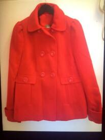 BRAND NEW RED COAT size 10