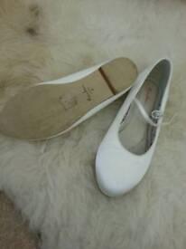 Stunning girls silk shoes.