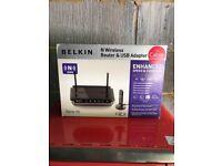 Belkin N Wireless Router & USB Adapter