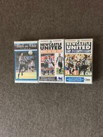 Newcastle United VHS collection