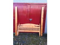 King size pine bed frame and slats
