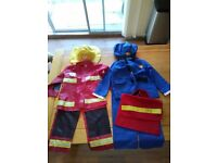 Postman Pat and a Fireman kids costume. £5 for both or £3 each.