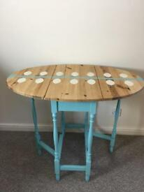 Retro wooden folding table