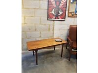 Rosewood Mid Century Vintage Coffee Table by Mcintosh