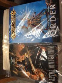 Warhammer Age of Sigmar Codex for Grand Alliance Order and Codex for Warhammer 40k Astra Militarum.