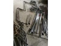 Metal clothing rails