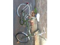 Classic / retro 80's Raleigh folding bikes X2