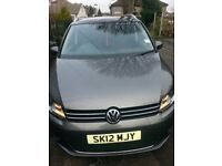 Vw touran 1.6 diesel 7 seater very good condition in side and out 1 owner service history cat d