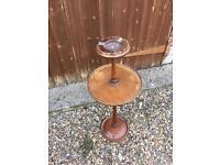 Vintage freestanding ashtray wood restoration shabby chic