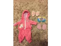 BABY BORN TRACKSUIT AND SOCKS