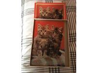 Vintage wooden puzzle (cats) £5