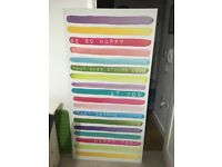 Large NEXT Multicoloured Quote Canvas