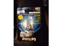 Philips BlueVision HB3 12V 60W bulbs