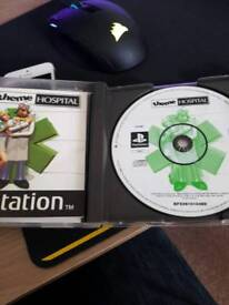 Theme Hospital PS1 game - Good condition with manual