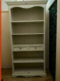 LOMBOK Distressed Wooden Bookcase Cabinet Dresser / Drawers & Shelves COST £1600