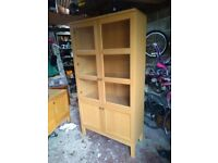 M&S American white oak sideboard and display cabinet