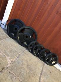 2x20kg 4x5kg Olympic TriGrip Weights. •Can Deliver•