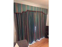 Full length bespoke curtains and pelmet