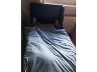 Boys blue single bed