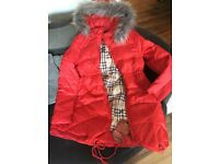 Ladies luxury fur down coat
