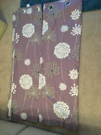 """Curtains Lined ring top size 62"""" x 62"""""""