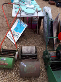 VINTAGE RETRO KITSCH WEBBS WASP PUSH MOWER IN YEOVIL
