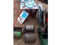 VINTAGE RETRO KITSCH WEBBS WASP PUSH MOWER IN YEOVIL