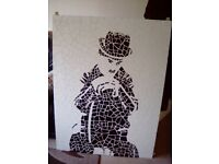 Large charlie chaplin moisic picture