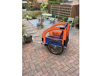 Double buggy bike trailer
