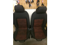 FORD FIESTA MK6 5 DOOR FRONT AND BACK RED SEATS 2006-2008