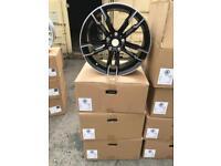 """4 19"""" alloy wheels alloys rims tyre tyres BMW 1 2 3 4 5 Vw transport t5 t6"""