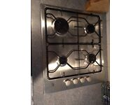AEG four ring gas hob in stainless steel