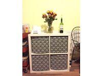 Shelving unit KALLAX White + boxes/drawers