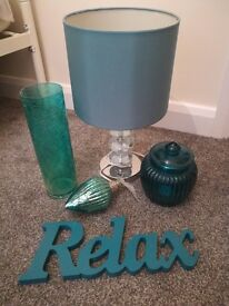 Teal green accessories