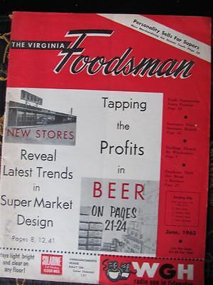 1963 The Virginia Foodsman Super Market Design/Tapping Beer Profits/Vtg Advtsg